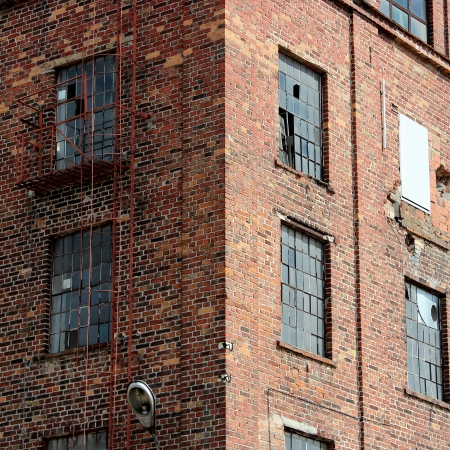 old factory building windows photo