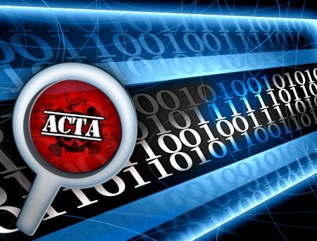 stop acta chapter illustration Stock Illustration - 14619564