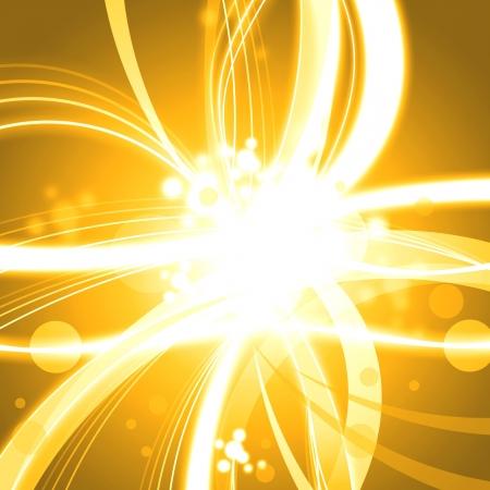 Golden shine abstract background illustration Stock Illustration - 14619517