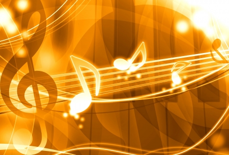 nomination: gold music background illustration Stock Photo