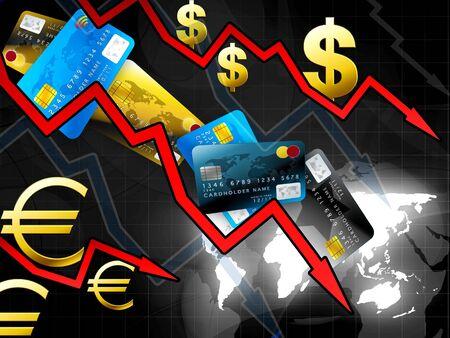 concept de crise mondiale de l'argent Banque d'images