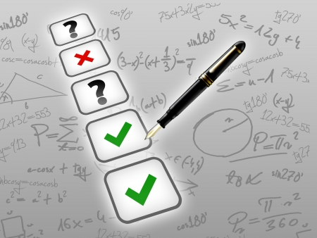 mathematic test exam concept photo