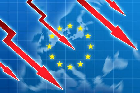 eu crisis concept illustration illustration