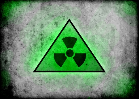 radiation radioactive sign background wall illustration Stock Illustration - 14619734