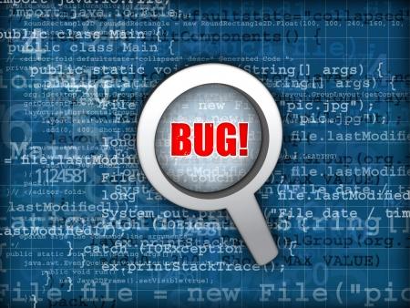 glitch: Codice bug concept