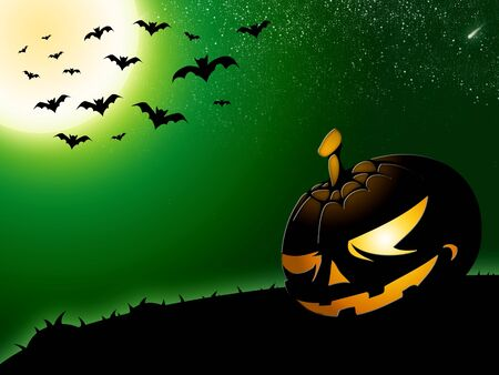 fruit bat: halloween background