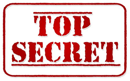 top secret: top secret stamp isolated on white