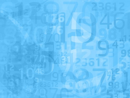 blue abstract numbers Stock Photo