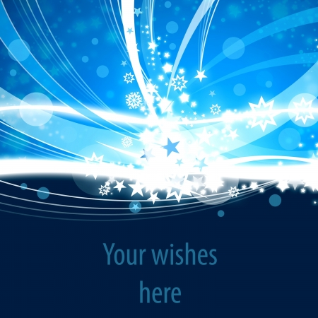 Blue Xmas abstract background with space for text