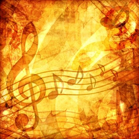 partition musique: Vintage partition musicale Banque d'images