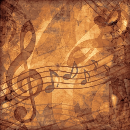 vintage music sepia  background Stock Photo - 14619728
