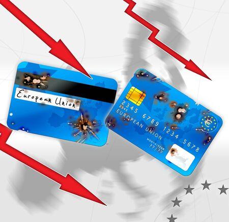 debet: euro financial crisis Stock Photo