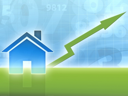 home value: house property increasing value Stock Photo