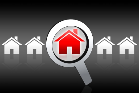 brokers: house buying searching concept Stock Photo