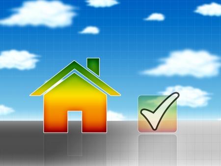 energy house concept illustration