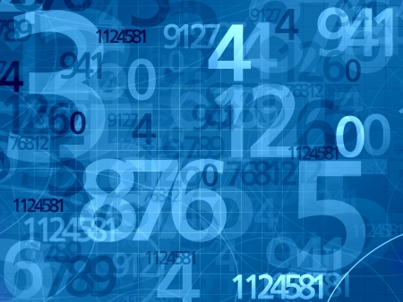 blue numbers mathematical math background