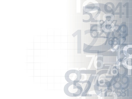 random: delicate numbers background light illustration