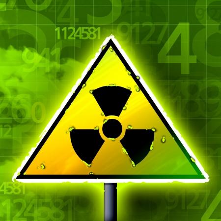 radiactividad: n�meros radioactividad signo Foto de archivo