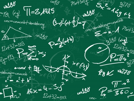 green math school blackboard Stock Photo