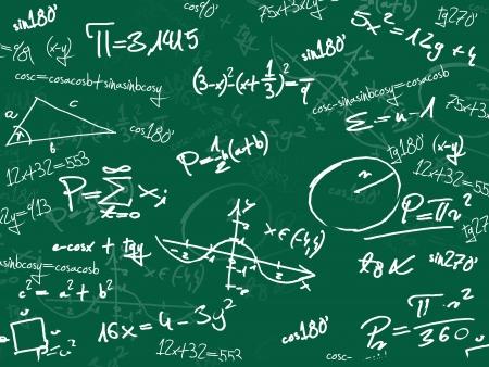 physical test: verde matematica lavagna della scuola Archivio Fotografico