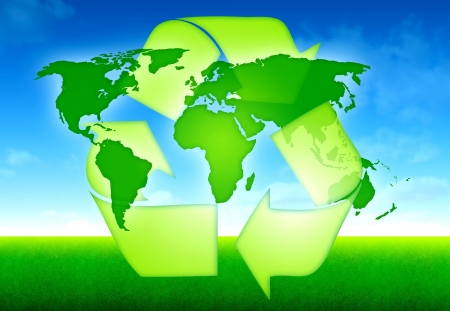 ecology world map concept Stock Photo - 14652855