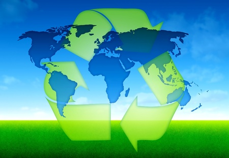eco world global concept Stock Photo - 14652853