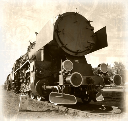 old sepia train photo