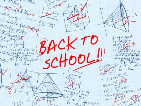 back to school math test error illustration illustration