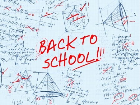 trigonometry: back to school math test error illustration