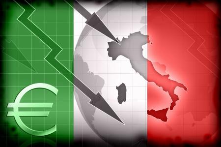 italy crisis grunge background illustration concept illustration