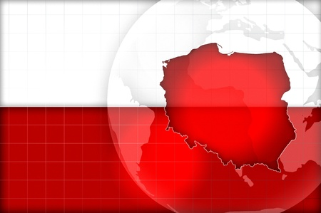 poland flag and map background illustration Zdjęcie Seryjne - 14782627