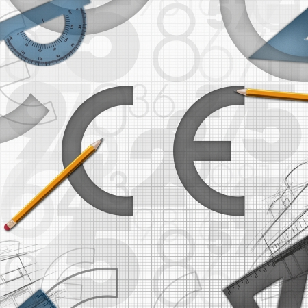 european community: CE European Community logo background illustration