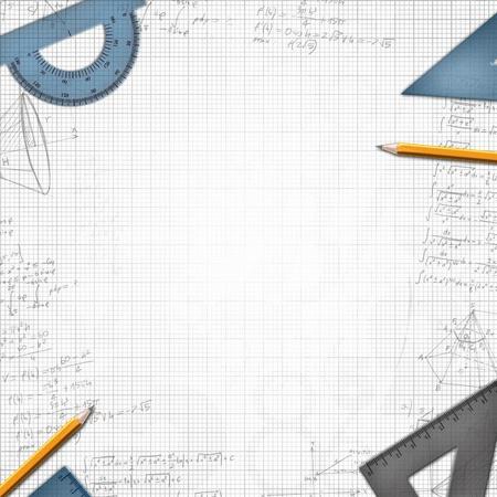 signos matematicos: diseño matemático escolar de ilustración de fondo
