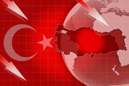 Turkey news flag crisis background information illustration