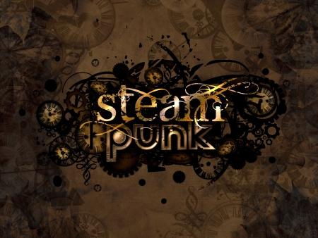 le punk logo vapeur signe illustration de fond