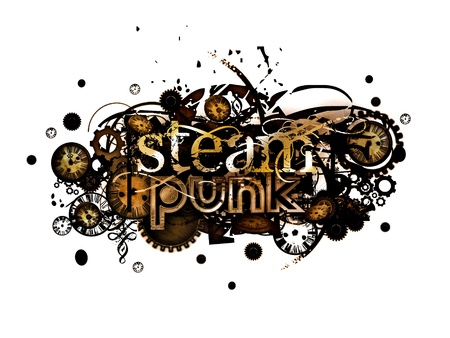 steam punk isolated on white background Zdjęcie Seryjne