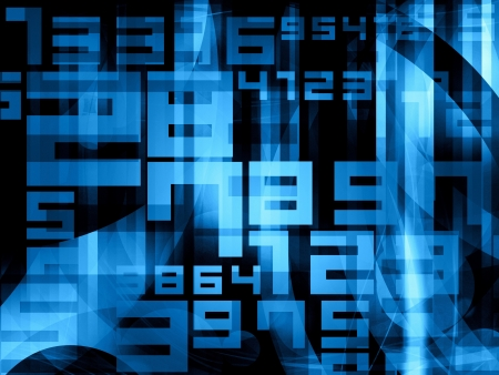 numbers abstract:  blue abstract random digits numbers background