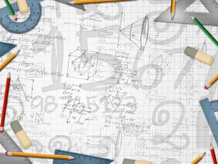 mathématique illustration de fond école de design Banque d'images