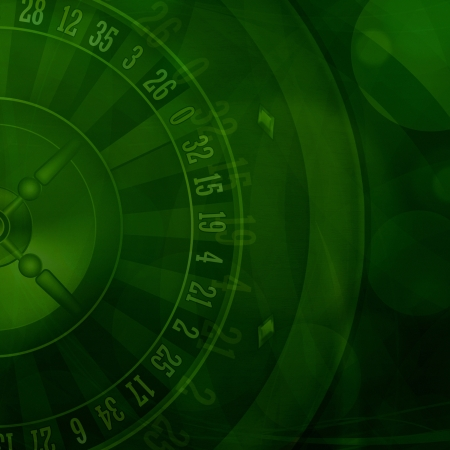 Casino roulette green background illustration