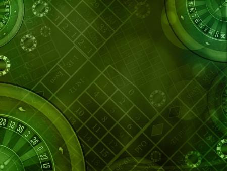 roulette: casino roulette verde sfondo orizzontale illustrazione Archivio Fotografico