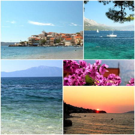 croatia travel summer photos - postcard from croatia Stock Photo