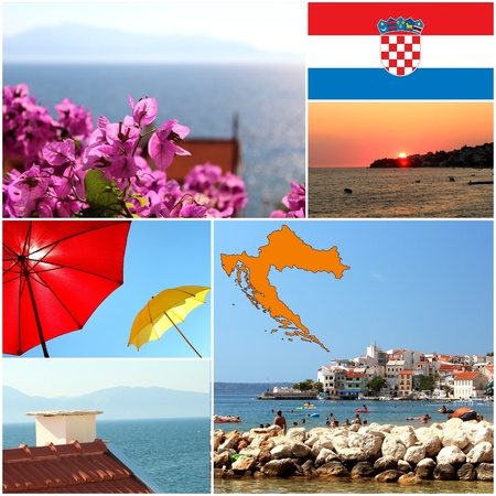 Set of summer colorful photos from Croatia photo