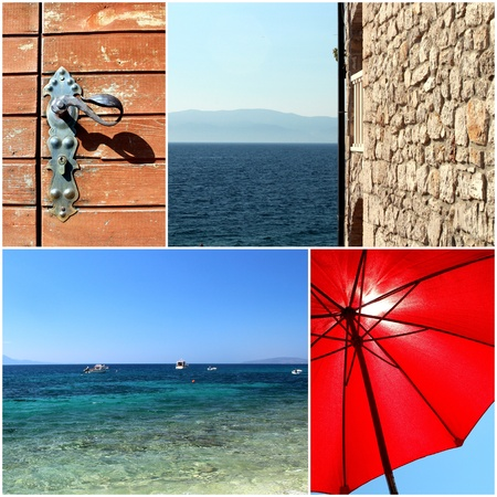 croatia dalmatia mediterranean sea summer photo set Stock Photo - 19184898