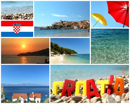 welcome to croatia - stack of summer travel photos Stock Photo - 19184890