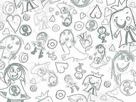 pencil drawn: children pencil scribbles background design