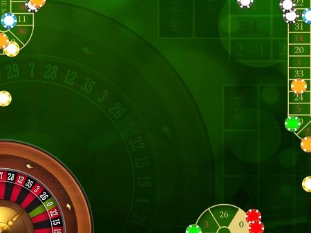 ruleta de casino: Juego elegante fondo con elementos de casino Foto de archivo