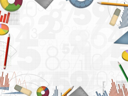 balance sheet: business financial numbers background frame colorful illustration Stock Photo
