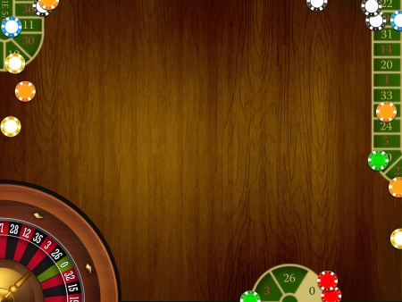 casino brown elegant table background photo