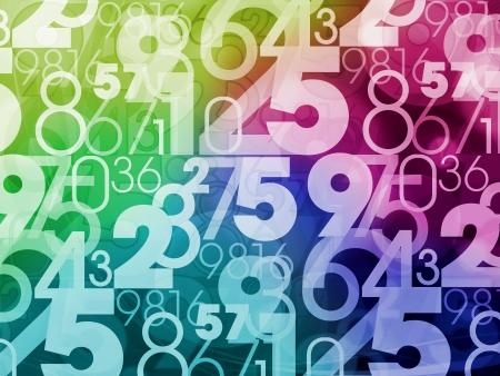coloré abstrait des nombres aléatoires fond