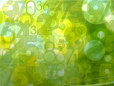 green fresh abstract random numbers background